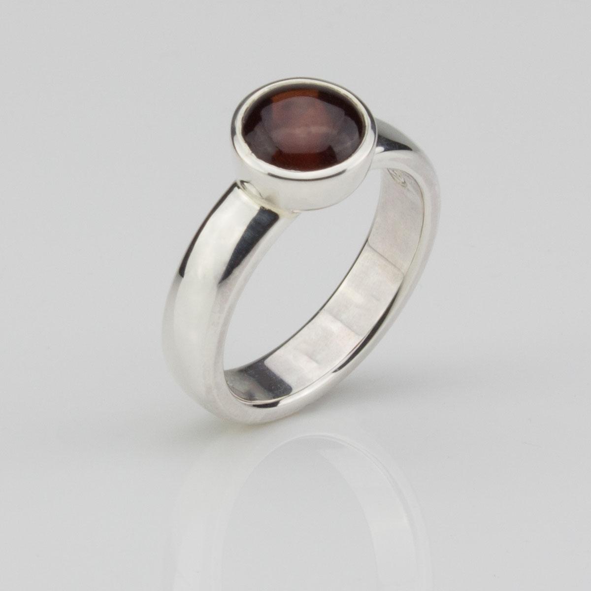 Ring-Silber-Granat-SW