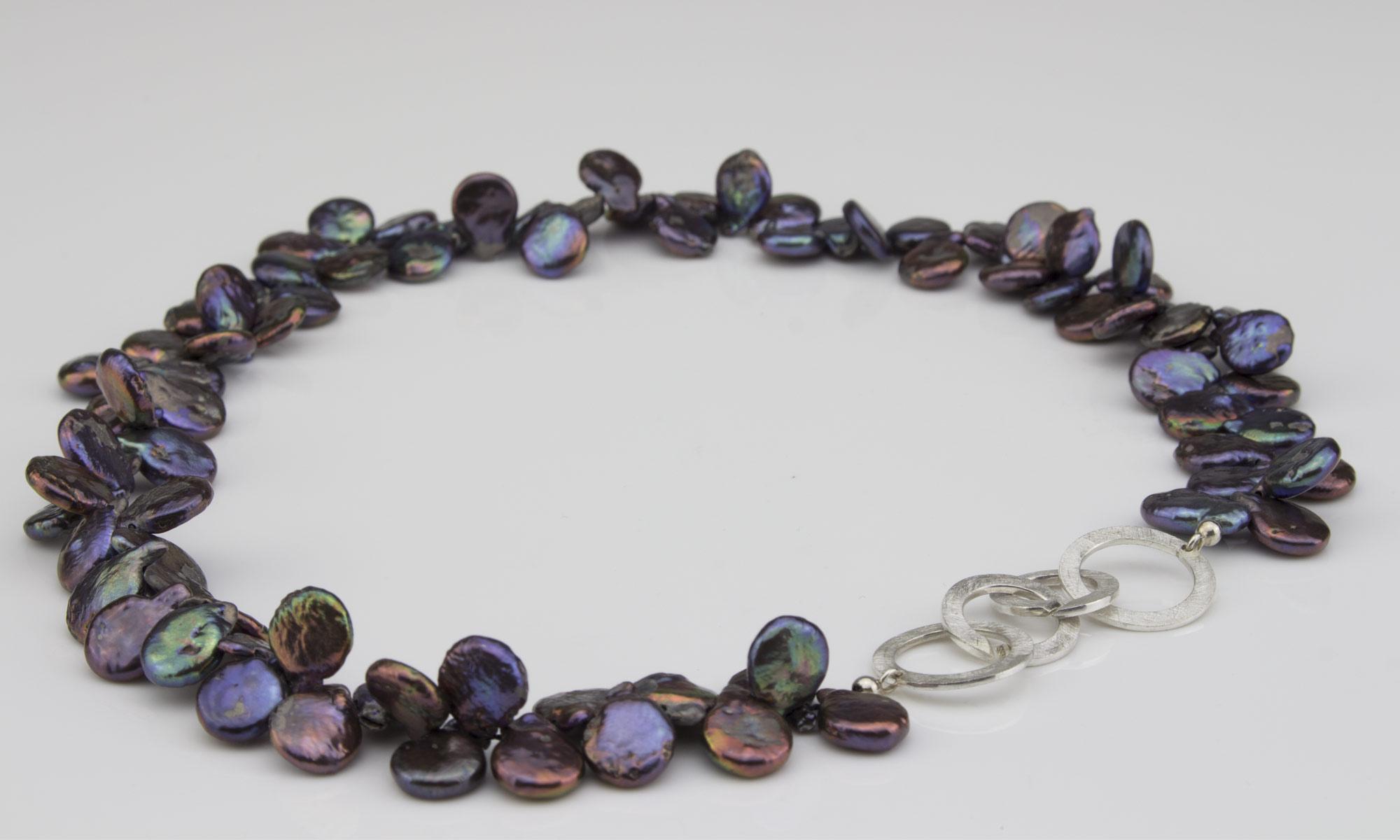 Kette-Silber-Perlen